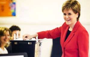 First Minister Nicola Sturgeon said that the SNP had won the election in Scotland, with the party achieving its second best performance ever in a Westminster election.