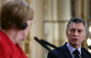 """I am optimistic,"" Macri said. ""I think Chancellor Merkel is going to have more work with protectionists in the EU agricultural sector than we will in Mercosur."""