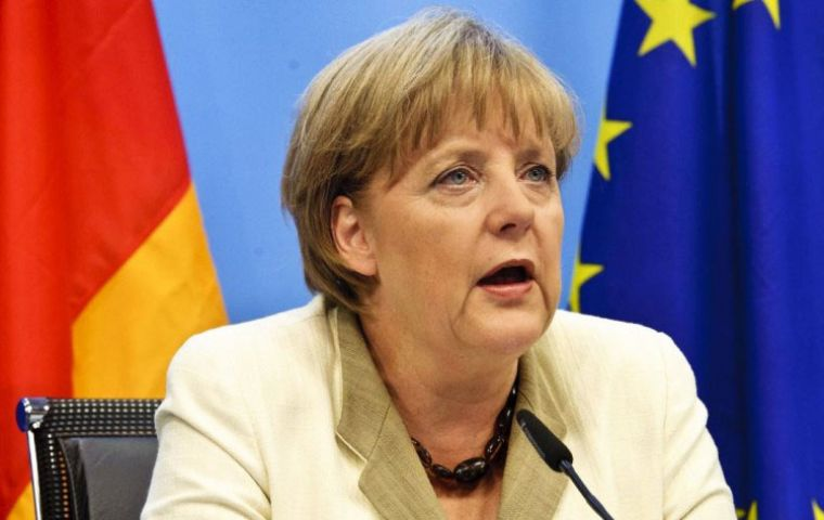 Mrs. Merkel added she hoped Britain would remain a good partner following the talks, due to begin on 19 June.