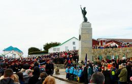<br /> A ceremony is held at the Liberation Monument each year on the 14th June to mark the end of the Falklands War and to honour those who fought during the conflict,