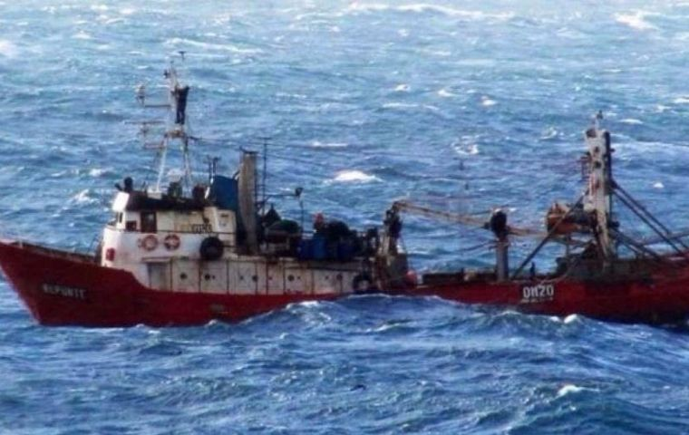 "The Mar del Plata-based ""Repunte"" had taken to sea from Puerto Madryn on June 13."