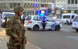 Belgium security forces Tuesday at Brussels station. The country has been the most fertile European recruiting ground for foreign Islamist fighters.