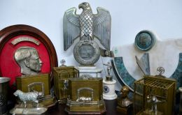 Nazi artifacts displayed at Interpol's headquarters in Buenos Aires