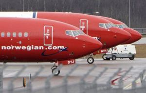 Norwegian will flight from  Gatwick to Ezeiza four weekly services