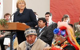 "•	Chilean President Michelle Bachelet apologizes for ""errors and horrors"" committed against the Mapuche"