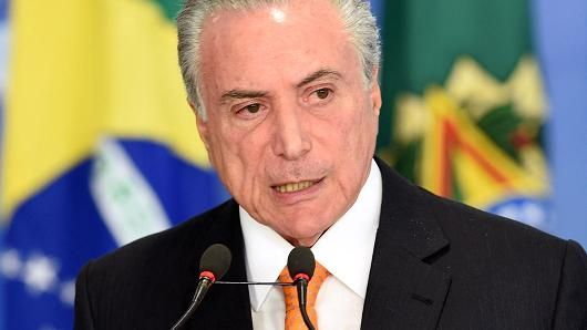 Brazil's president Michel Temer charged over alleged corruption