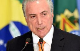"Temer is suspected to have participated ""with vigour"" in cases of corruption"