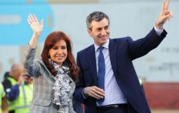 Cristina Fernandez and Florencio Randazzo in happier days when they were on the same team