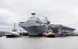 HMS Queen Elizabeth, the first QE Class aircraft carrier, set sail from Rosyth to commence first stage sea trials off the north-east of Scotland.