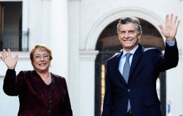 "Macri and Bachelet: ""We are looking for a solution for Venezuela, so that there are elections and no more political prisoners"""