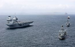 Type 23 frigates Sutherland and Iron Duke have now joined the 65,000-tonne aircraft carrier