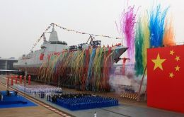 The new Type 055 ship is comparable in size to the latest destroyers fielded in Asian waters by the United States, Japan and South Korea