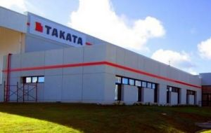 Unlike other auto part manufacturers in the country, Takata Uruguay has increased its output in Uruguay in recent times.