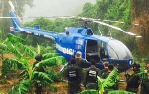 The police helicopter used in Tuesday's stunt has been found unmanned near Caracas.
