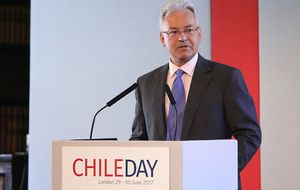 Sir Alan Duncan speaking at Chile Day 2017