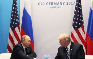 The US and Russian presidents held their first face-to-face talks on the sidelines of the G20 summit in the German city of Hamburg