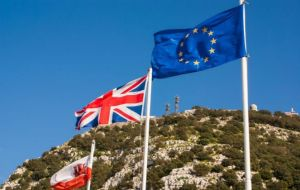 """Gibraltar is one of these territories and therefore bound to leave the European Union together with the United Kingdom,"" Mr Juncker said in his response."