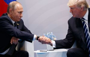 Trump met Vladimir Putin for the first time in Hamburg, a hotly anticipated encounter after the US president promised a rapprochement with Moscow