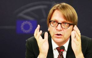 "Verhofstadt said the Prime Minister's plan was a ""damp squib"" which carried a risk of creating ""second-class citizenship""."