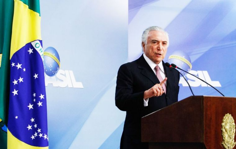 """This is a Victory for Brazil in the fight against unemployment and in the construction of a more productive economy,"" said a celebratory tweet from Temer"