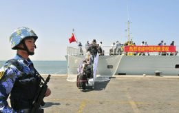 "It will be China's first overseas naval base, though Beijing officially describes it as a logistics facility. Xinhua said had departed ""to set up a support base in Djibouti"". (Pic Reuters)"