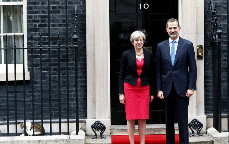 PM May hosted the monarch for talks at Downing Street also attended by Foreign Secretary Boris Johnson, Brexit Secretary David Davis and Business Secretary Greg Clark.
