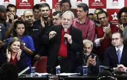 "In an impassioned speech at his Workers' party headquarters in São Paulo, the ex president warned: ""Whoever thinks this is the end of Lula is in for a shock."""
