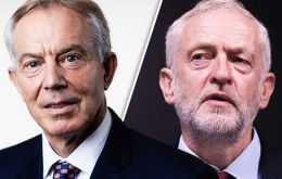 """There's been so many political upsets, it's possible Jeremy Corbyn could become prime minister and Labour could win on that program"" ex PM Tony Blair said"