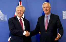 Davis is attempting to accelerate a dialogue with Barnier, but open divisions in PM Theresa May's cabinet make it difficult to determine the British course of action