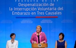 President Michelle Bachelet supports the measure and has said she would sign the law, but opposition said they would appeal it before the Constitutional Tribunal