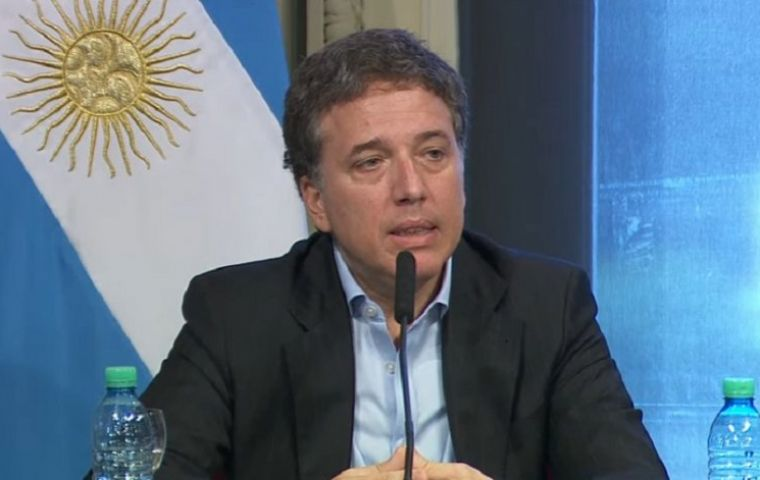 "Dujovne said there was ""no doubt"" that Argentina would meet its annual goal this year. He pointed to a 32% increase in government revenue in the first half"