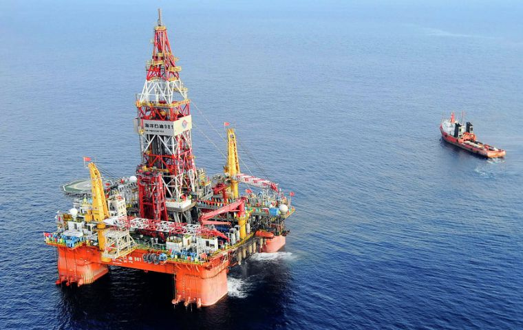 Hanoi ordered Repsol to leave the area and Block 136-03 after Beijing said it would attack Vietnam military bases in the contested Spratly Islands if drilling continued.
