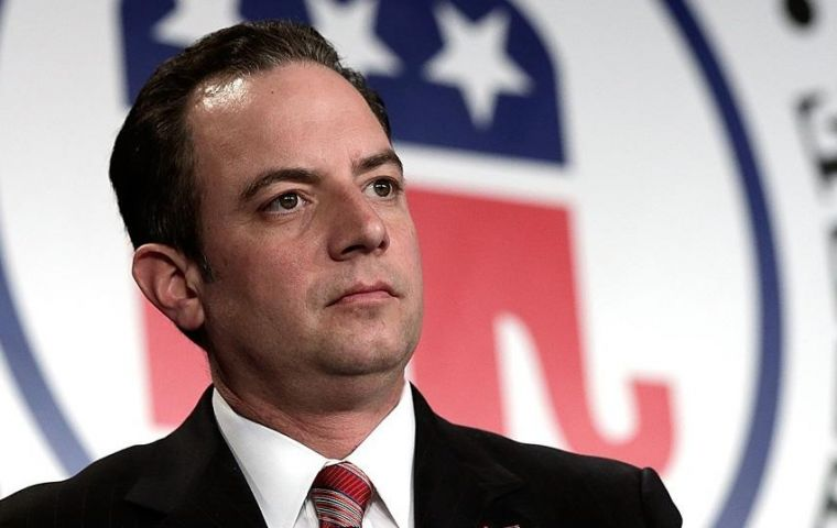The embattled ex chief of staff Priebus had faced pressure since being named as a possible leaker by Trump's newly appointed director of communication
