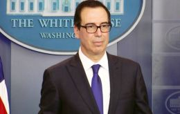 "U.S. Treasury Secretary Steven Mnuchin announced the sanctions Monday, calling Maduro a ""dictator"" who ignores the will of the Venezuelan people."