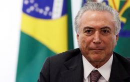 President Temer is facing a vote in the lower house Wednesday on whether he should be suspended and put on trial over a bribery charge