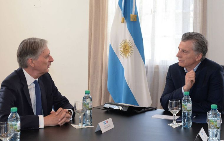 President Macri and Chancellor at the Olivos residence