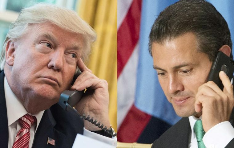 """You cannot say that to the press,"" Trump told Peña Nieto, adding it was the ""worst"" conversation he had that day, according to a Jan 27 transcript"