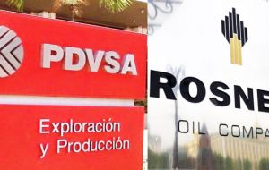 PDVSA agreed in the catch-up plan to compensate Rosneft for the delayed cargoes, since the oil is being sent in lieu of payment for loans.