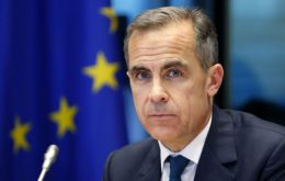 """It's evident...that uncertainties about the eventual relationship (with EU) are weighing on the decisions of some businesses"", said Mark Carney"