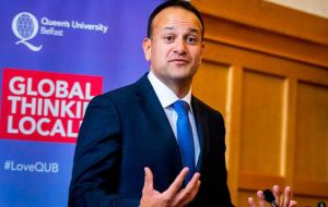 "Speaking to an invited audience at Queen's University, Belfast, Mr Varadkar said: ""Every single aspect of life in Northern Ireland could be affected by Brexit."""