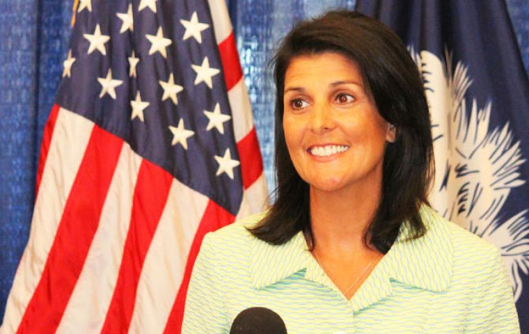 "U.S. Ambassador Nikki Haley praised the new sanctions telling council members it is ""the single largest economic package ever leveled against North Korean regime."""