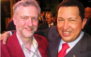 "Corbyn is a long-time admirer of Hugo Chavez whom he described in 2013 as ""an inspiration to all of us fighting back against austerity and neoliberal economics"""