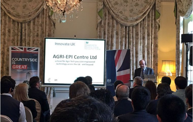 The full house at the residence during one of the several conferences and presentations by the British companies