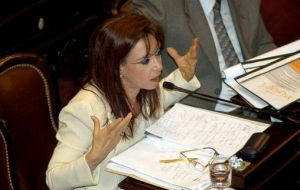 Investors are worried that a Cristina Fernandez comeback in Congress would threaten Macri's reform agenda.