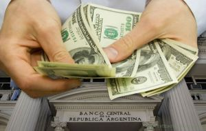 The Argentine central bank has been pumping dollars into local money markets to ensure that the greenback trades in the range of 18 Pesos at its highest