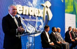 Temer was booed as he left the stage at the SulAmerica Convention Center in Rio after presenting his administration's austerity proposals at the ENAEX trade fair