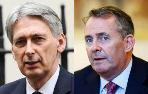 Writing in the Sunday Telegraph, Hammond and Fox said UK definitely will leave both the customs union and the single market when it exits the EU in March 2019.
