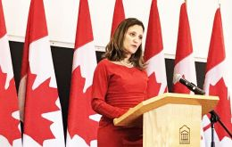 """Canada will uphold and preserve the elements in NAFTA that Canadians deem key to our national interest,"" Canadian Foreign Minister Chrystia Freeland said"