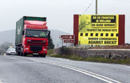 The UK government does not want to see any physical infrastructure at the Irish border, such as customs posts.