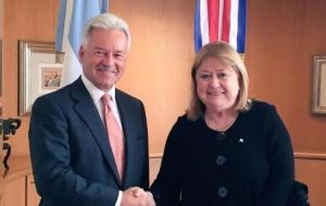 Ex foreign minister Susana Malcorra and Sir Alan Duncan signed in September 2016 a Joint Communiqué to enhance bilateral relations and cooperation